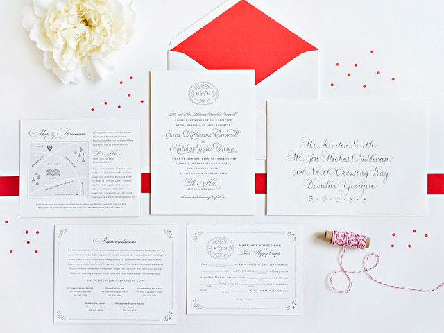 parts of wedding invitation via wedding ideas site ift