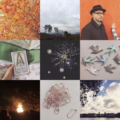 November was a month of many fireworks, and lights that look like fireworks, enamel, Tate Modern, Kew Gardens, book festivals with the real Judith Kerr, gorgeous misty dog walks, freezing sunny cycle rides and rose gold safety pins.