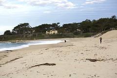 Two photographers on the Carmel River Beach