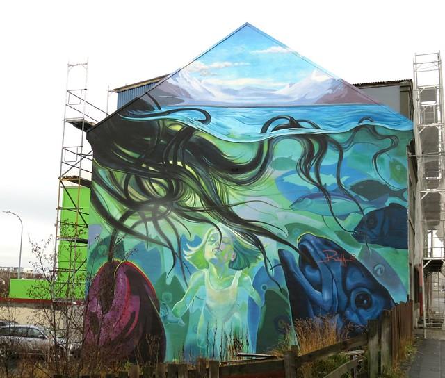 Raff 2012, Murals on Laugavegur, Reykjavia, Iceland