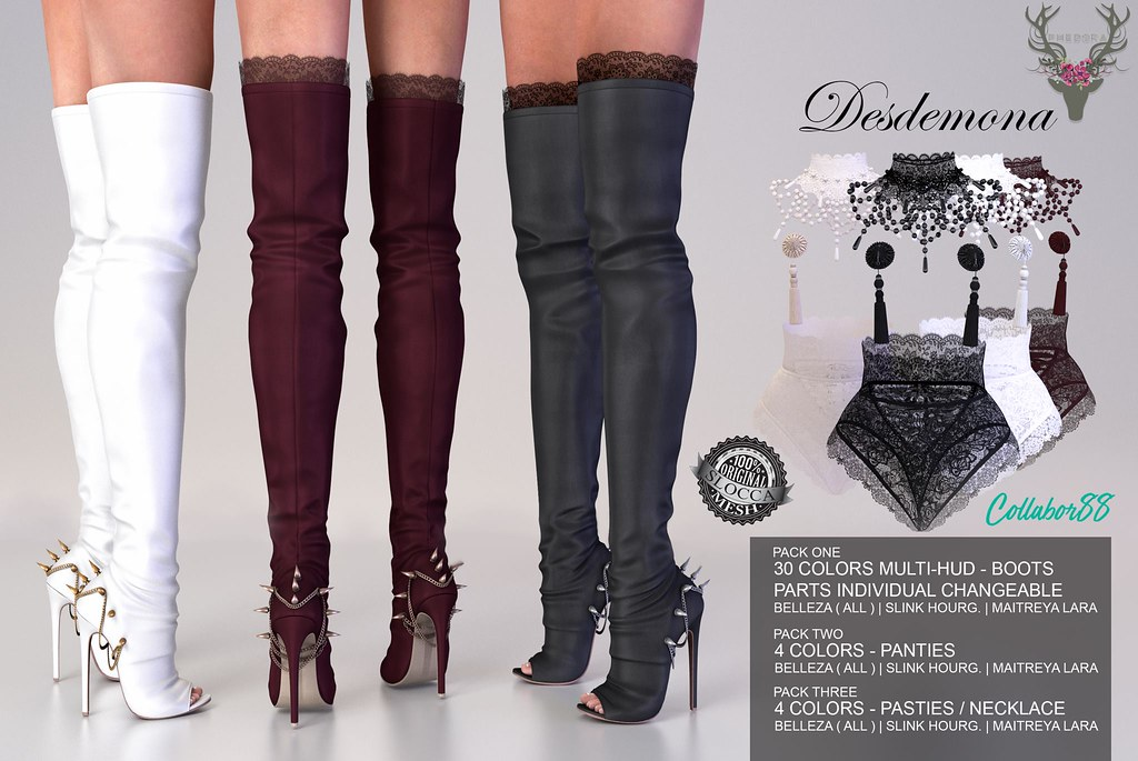 "Phedora Exclusively for Collabor88-""Desdemona"" (3 different item packages) ♥ - SecondLifeHub.com"