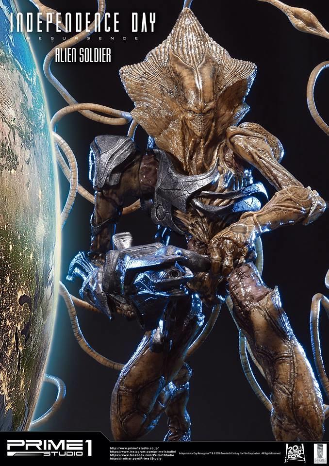 Prime 1 Studio【ID4 星際重生:外星人戰士】Alien Soldier 1/4 比例超巨大全身雕像