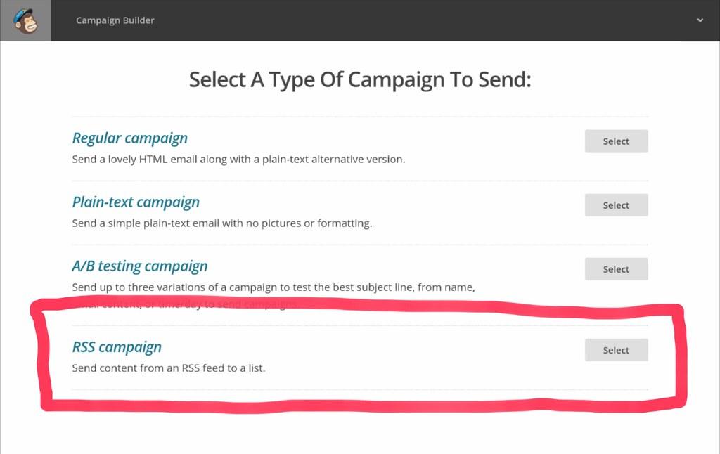 mailchimp rss campaign