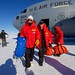 Secretary Kerry Walks Away From a U.S. Air Force C-17 Cargo Plan at the Pegasus Ice Field in Antartica by U.S. Department of State