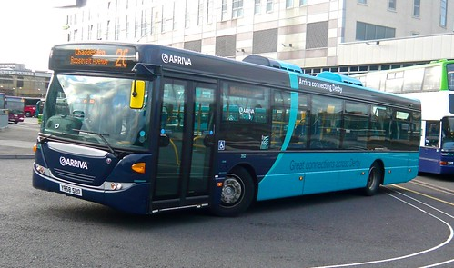 YR58 SRO 'Arriva Midlands' No. 3552 Scania Omnicity on 'Dennis Basford's railsroadsrunways.blogspot.co.uk