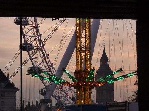 Southbank Centre's Winter Festival - Star Flyer, London Eye and Big Ben