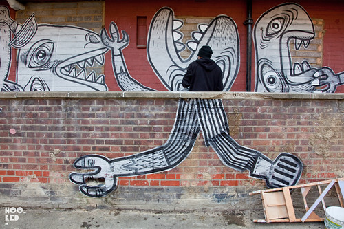 Nazir Tanbouli, Kings Land Mural Project, Haggerston London. Photo ©Hookedblog / Mark Rigney