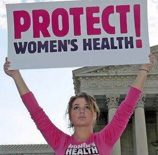 Women's Health protester