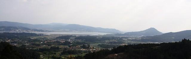Desembocadura do Miño dende os muíños do Folón e Picón (Val do Rosal)