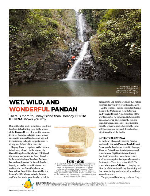 Pandan Article on PAL Mabuhay 2012 Issue