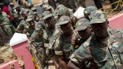 Members of the armed forces in the West African state of Guinea-Bissau. Reports indicated on April 13, 2012 that there had been another coup. by Pan-African News Wire File Photos