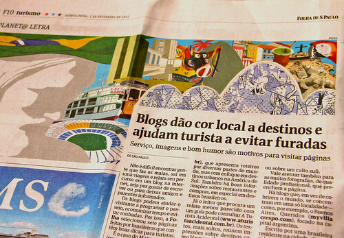Nós no Mundo na Folha de S. Paulo