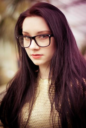 [フリー画像素材] 人物, 女性, 眼鏡・メガネ, イギリス人 ID:201204130200