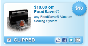 $10.00 Off Any Foodsaver Vacuum Sealing System Coupon
