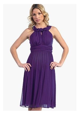 halter maternity bridesmaid dress