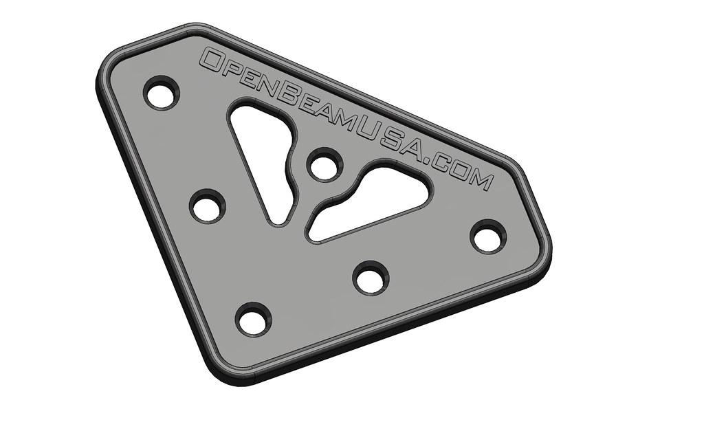 TL625-000100-001-A - L Plate, OpenBeam 1515