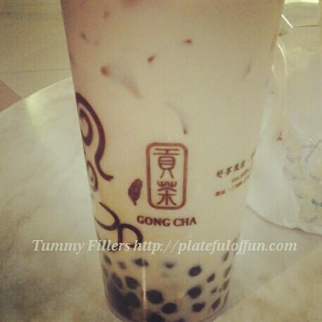 Gong Cha pearl milk tea