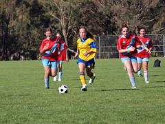Belnorth U 13 Div 2 Girls Soccer 2012 vs Woden Valley 5 May 12