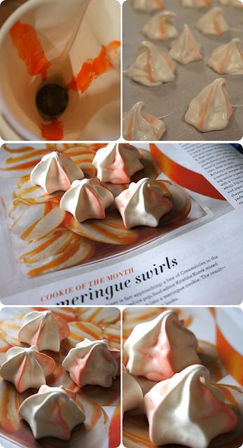 Martha Stewart Creamsicle Meringues