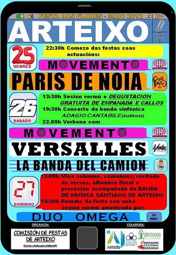 Arteixo 2012 - Festa das Flores - cartel
