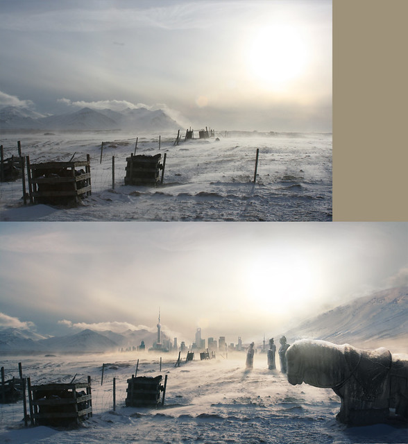Matte Painting-Ice age Shanghai