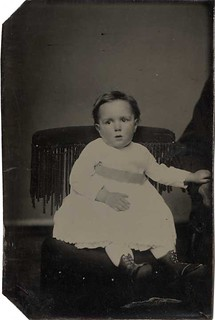Tintype of a Little Boy with a Hidden Parent