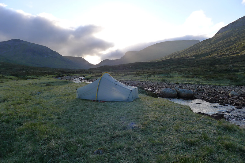 Tent in the early morning light