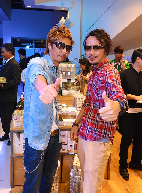 Hairstylist Fumio Ohnishi and interior designer Takatoshi Kimachi