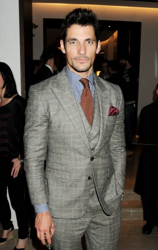 2 David Gandy at the Burberry event in Knightsbridge London