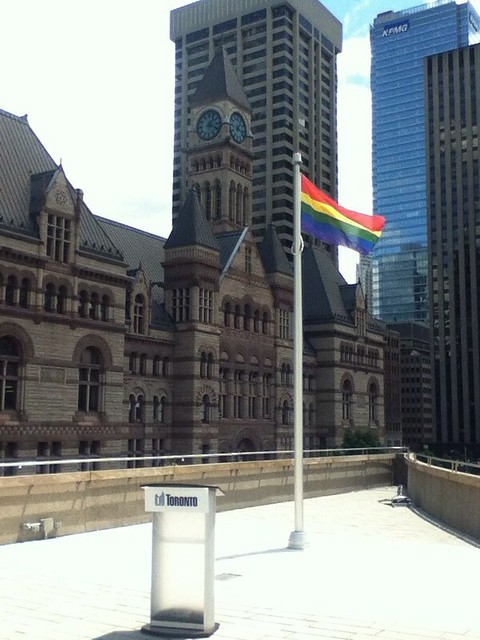 Pride Flag at Toronto City Hall