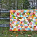 Thousand Pyramids quilt by Sewfrench