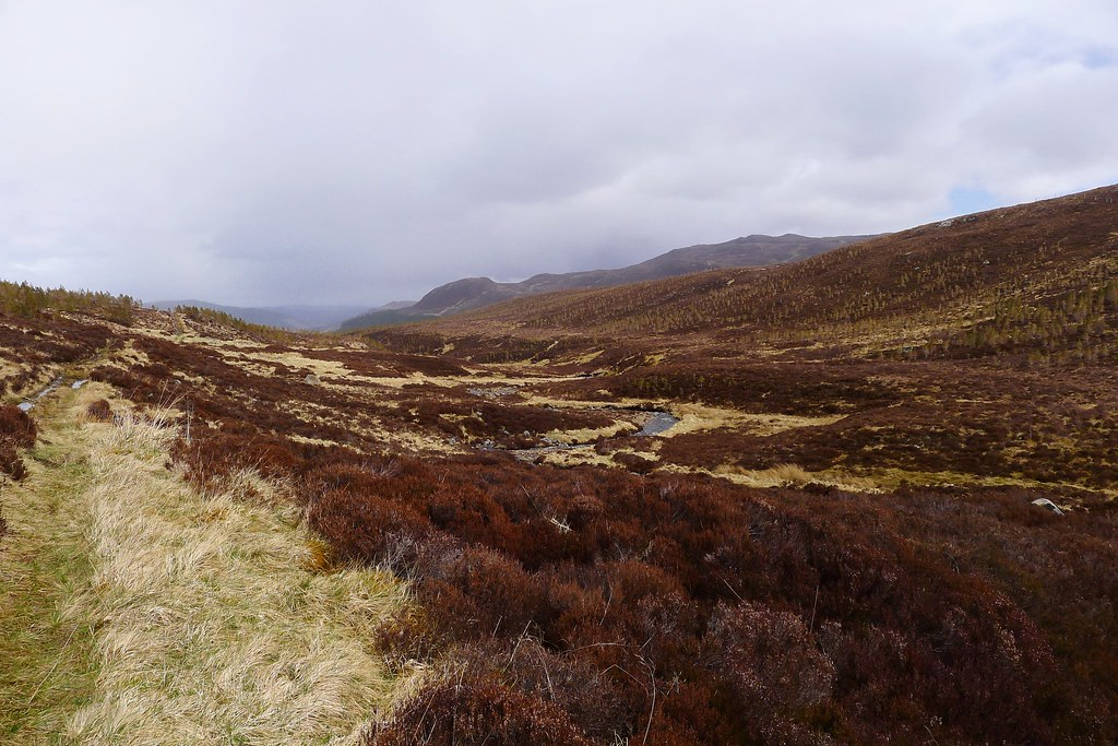 Looking down the Allt Riabhach