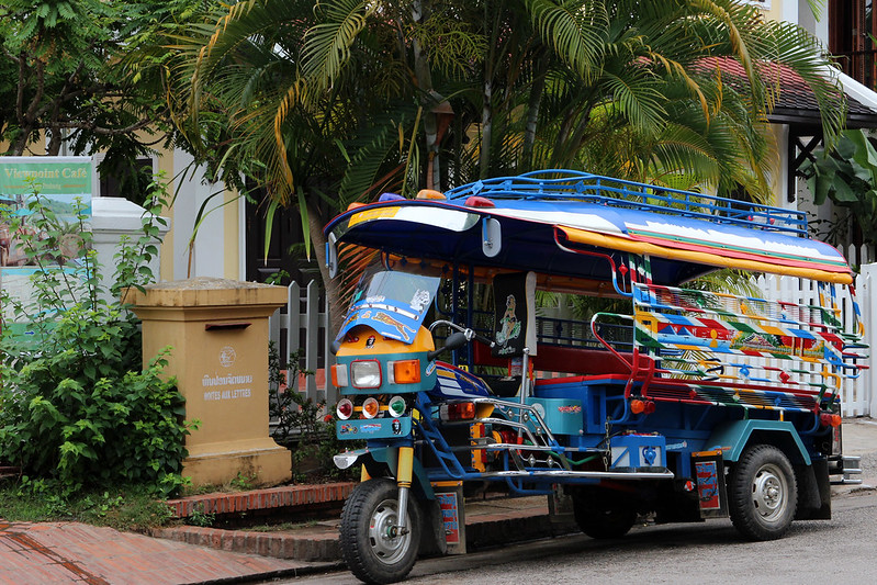 A colourful tuk-tuk in Luang Prabang, Laos