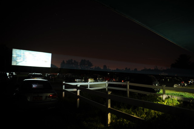 Jericho Drive-In with light trails