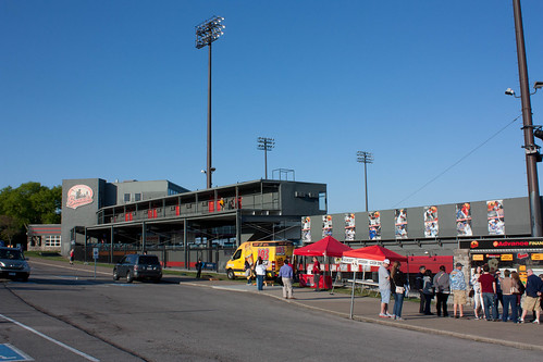 Outside of Greer Stadium in Nashville, TN