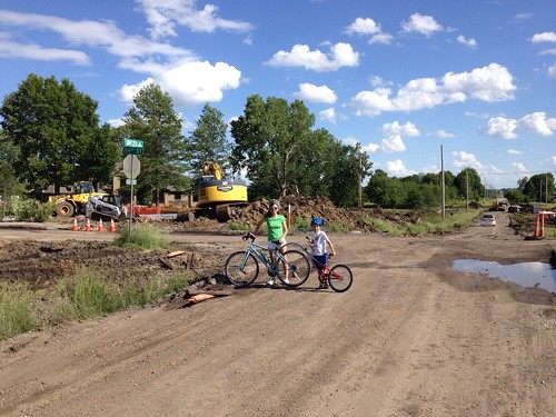 Bike ride on 151st & Switzer construction