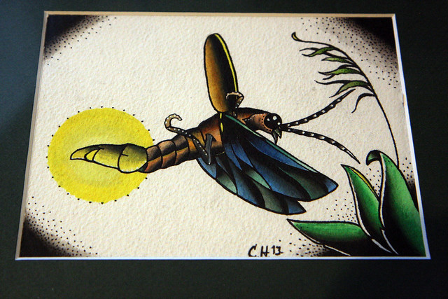 Firefly Bug Tattoo Lightning Bug Firefly Painting