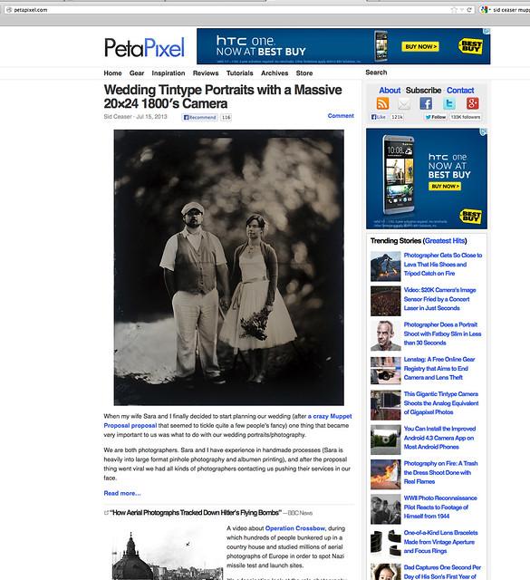 PetaPixel • Wedding Tintype Portraits
