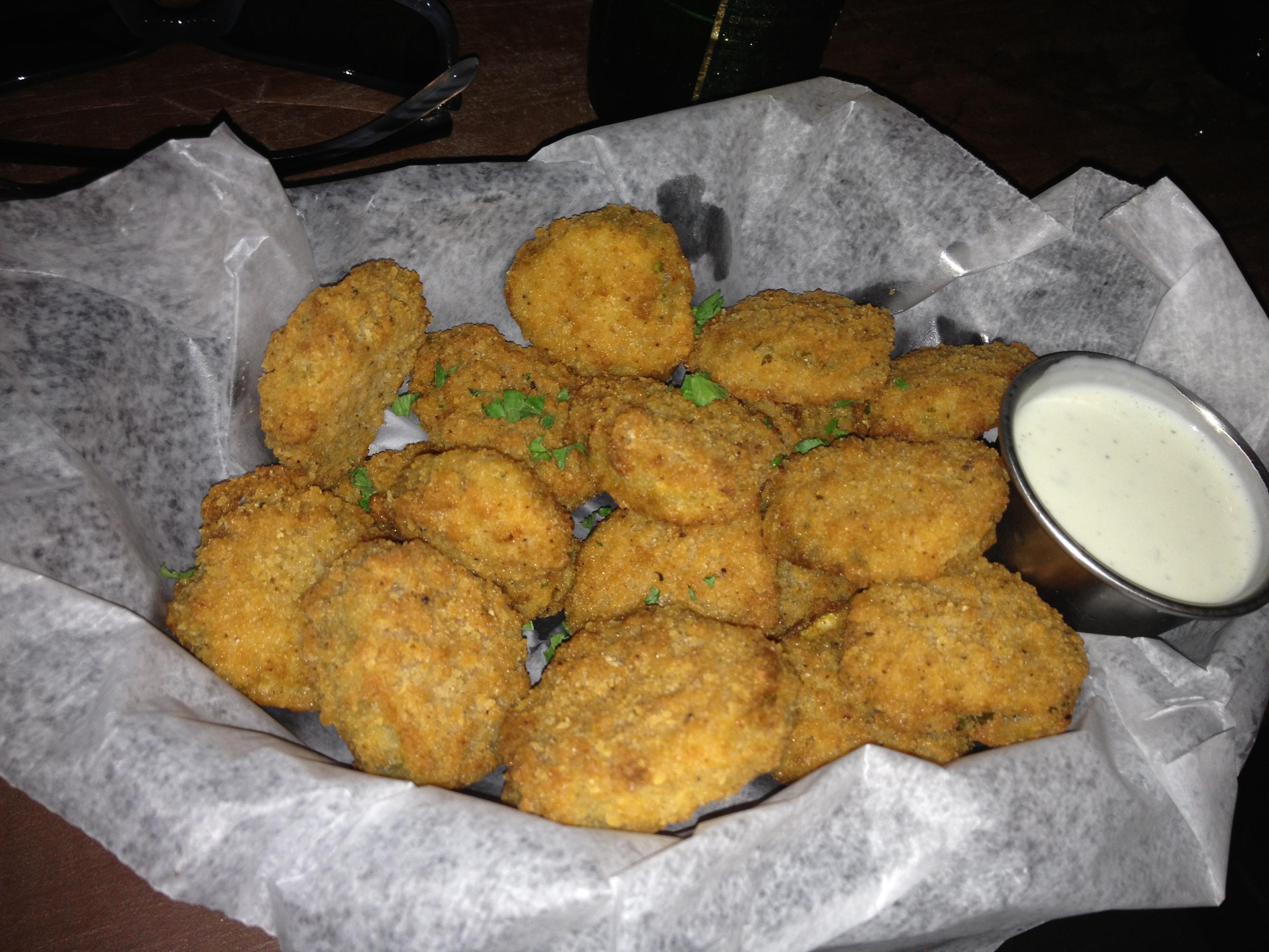 Fried Pickles at Cedar Creek