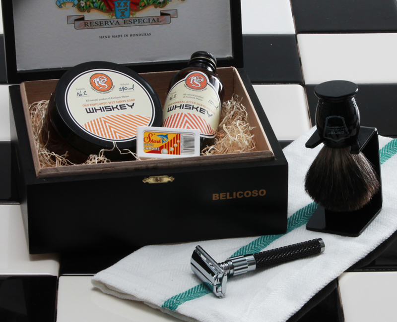 Shave like a man with Broquet's safety razor shaving kit