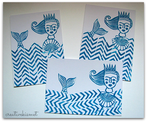 Mermaid Stamp Postcards