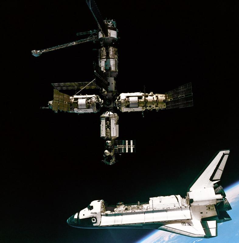 Atlantis departing Mir