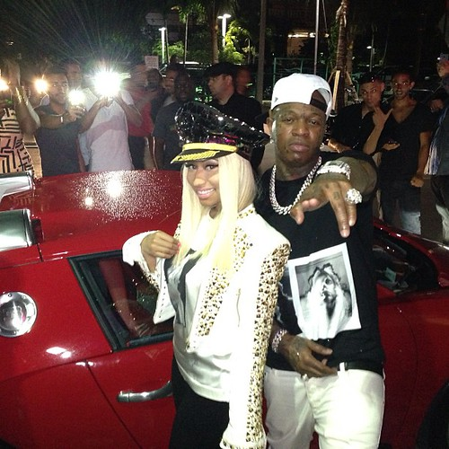 Nicki Minaj at the club with Camron and Birdman