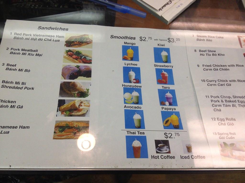 Yen's Sandwiches