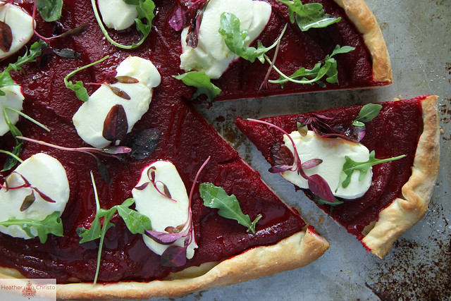 Beet and Goat Cheese Pizza