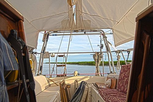 Front To Back Coverage - S/V Take Five Has A Proper Awning