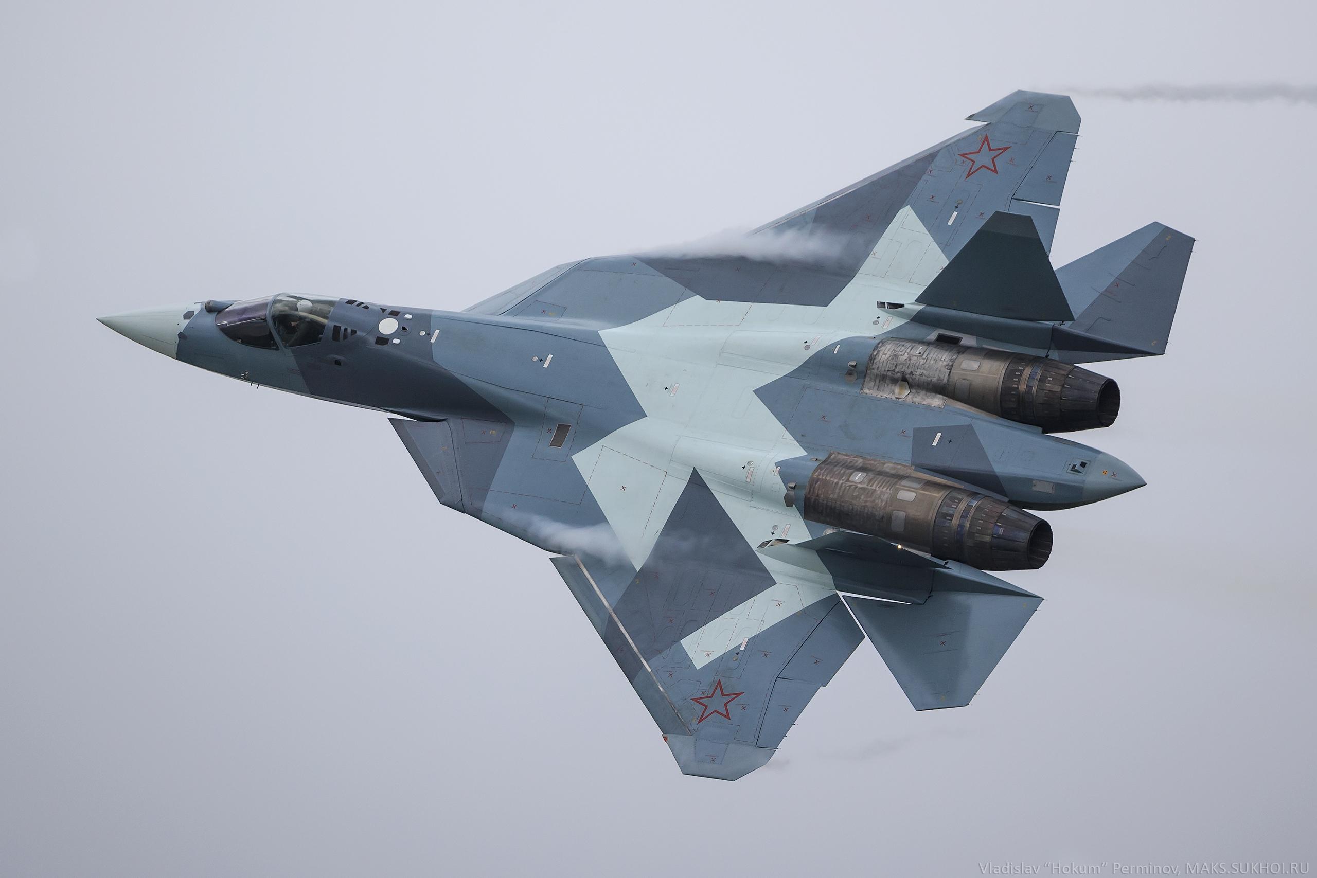 Обои Пятого поколения, многоцелевой, ПАК ФА Т-50, Самолёт, сверхзвуковой, Владислав Перминов, истребитель. Авиация foto 17