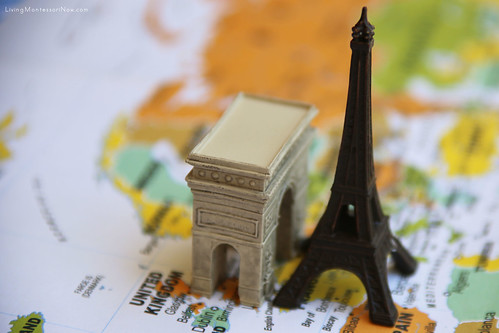 Paris Landmarks on World Map