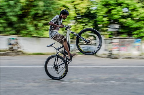 bicycle stunt