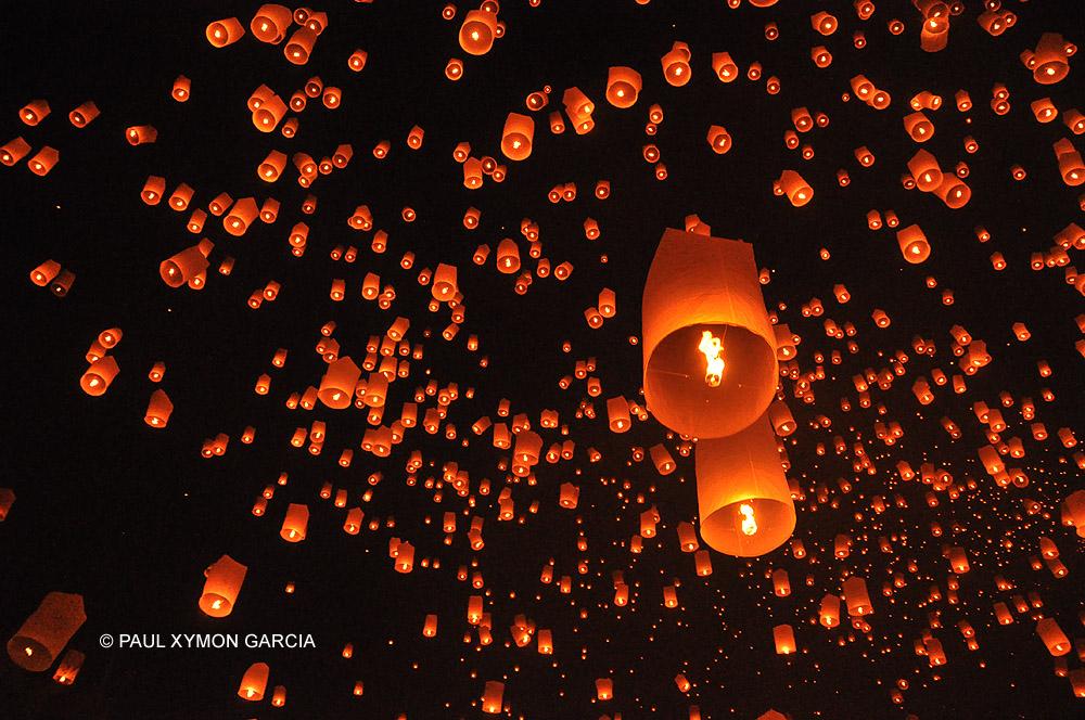 Magical lanterns at the Yi Peng Lantern Festival